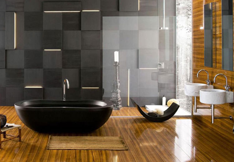 Modello di vasca da bagno nera n.13