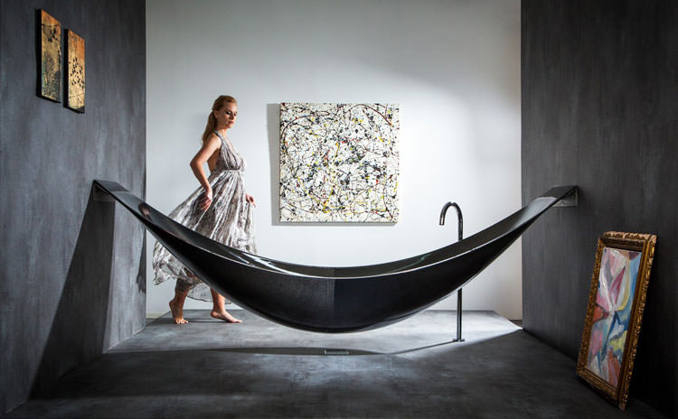 Modello di vasca da bagno nera n.14