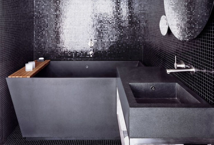 Modello di vasca da bagno nera n.15