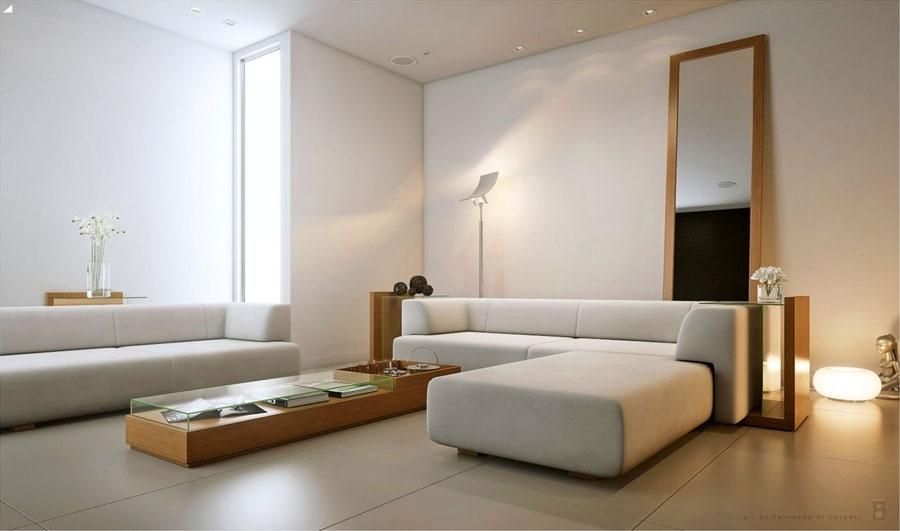 Arredamento dal design minimalista per interni