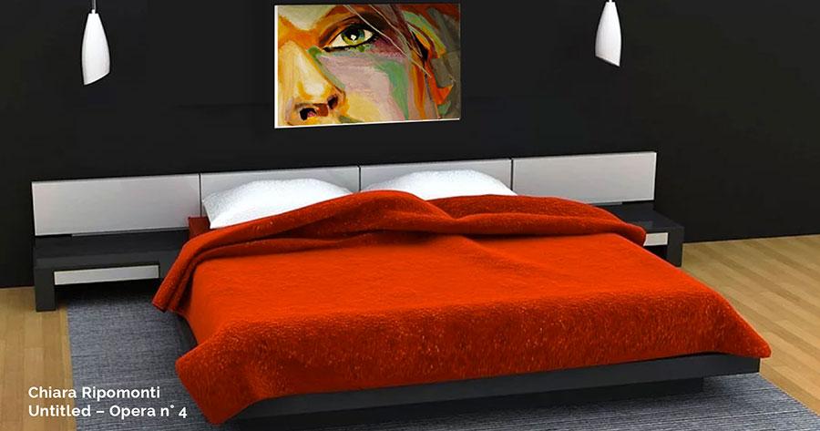 Idee per arredare una camera da letto rossa e grigia 12