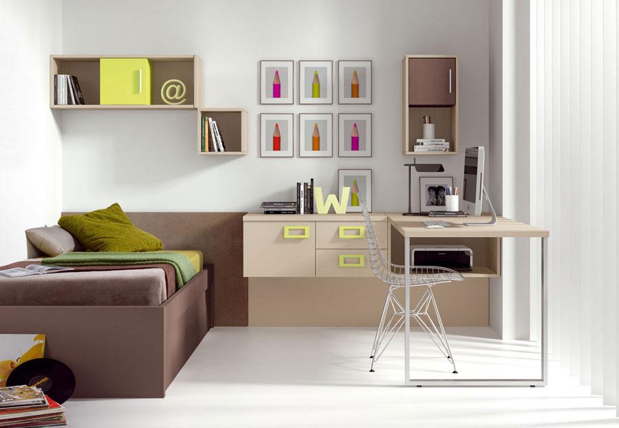20 camerette per ragazzi moderne e sofisticate. Black Bedroom Furniture Sets. Home Design Ideas