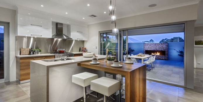20 Foto di Cucine con Isola con Lato Bar per la Colazione