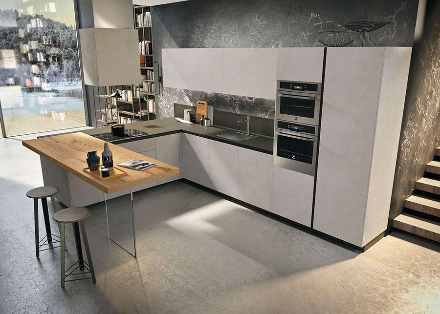 Modello di cucina con piano snack n.01