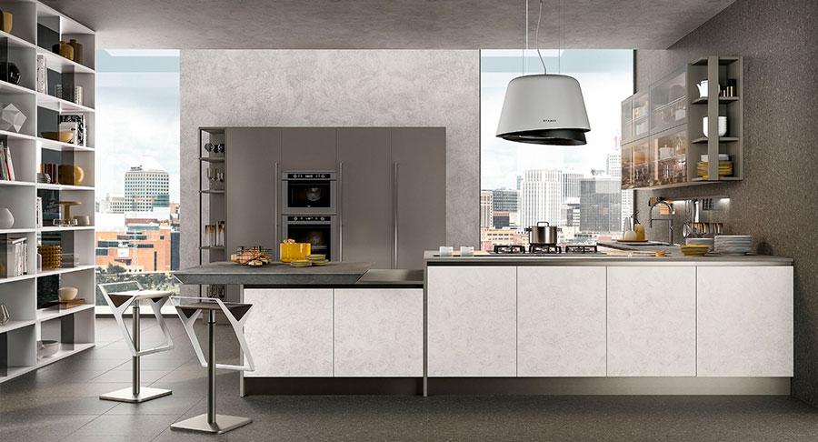 Modello di cucina con piano snack n.02