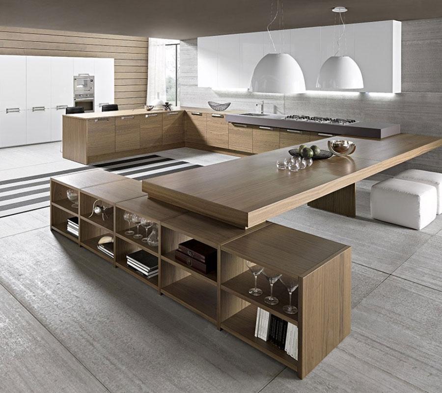 Modello di cucina a U moderna n.03