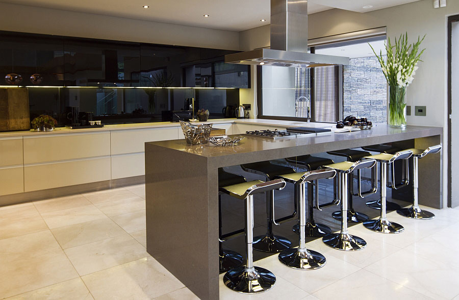 Modello di cucina a U moderna n.04