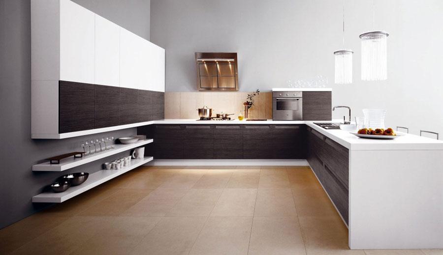 Modello di cucina a U moderna n.06