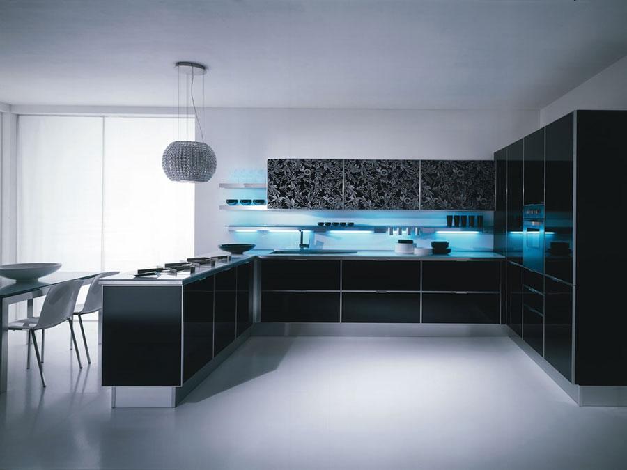 Modello di cucina a U moderna n.08
