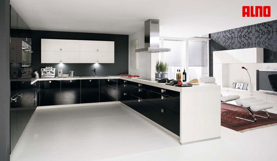 Modello di cucina a U moderna n.10