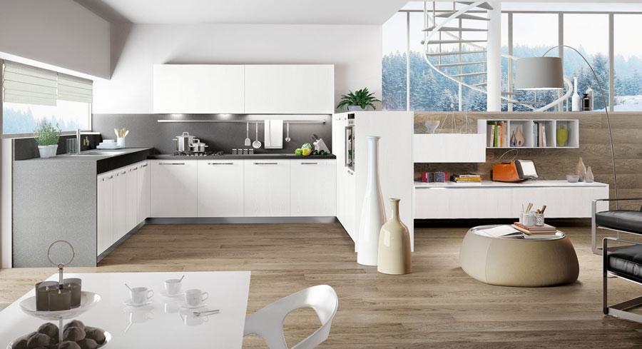 Modello di cucina a U moderna n.14