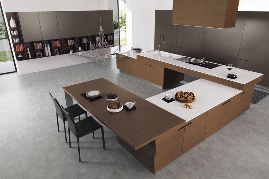 Modello di cucina a U moderna n.15