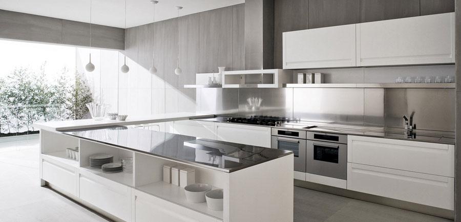 Modello di cucina a U moderna n.16