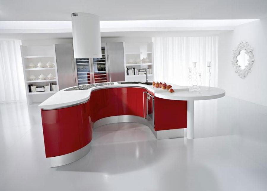 Modello di cucina a U moderna n.17