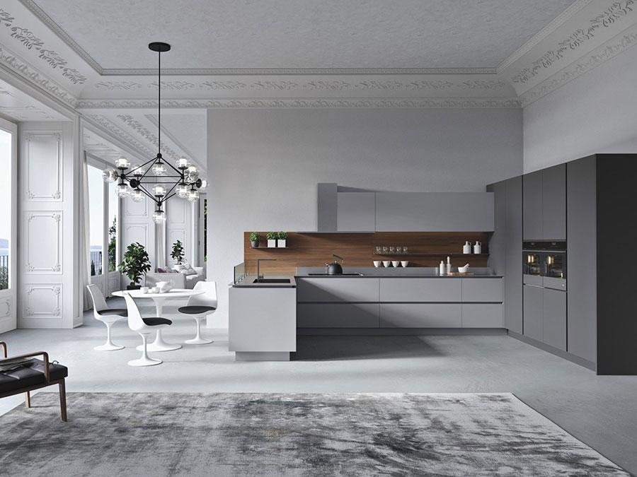 Modello di cucina a U moderna n.24