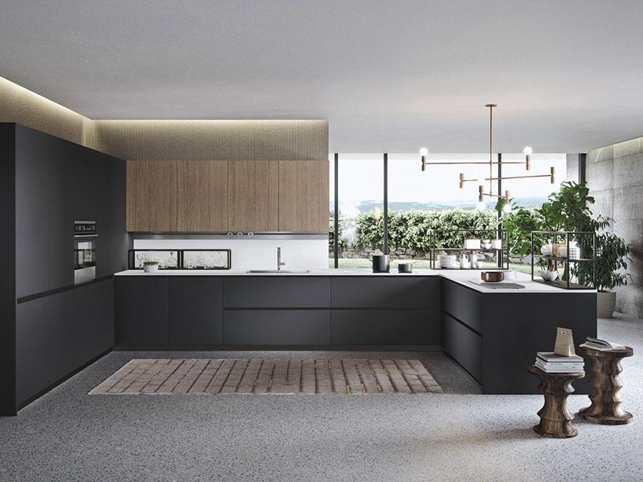 Modello di cucina a U moderna n.25