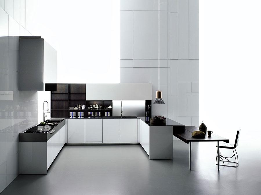 Modello di cucina a U moderna n.26