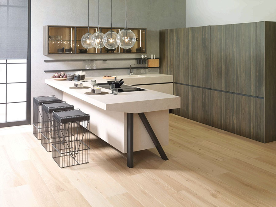 Modello di cucina a U moderna n.29