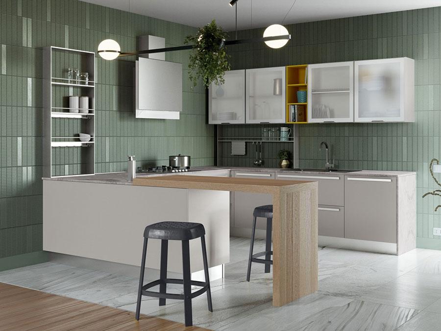 Modello di cucina a U moderna n.30