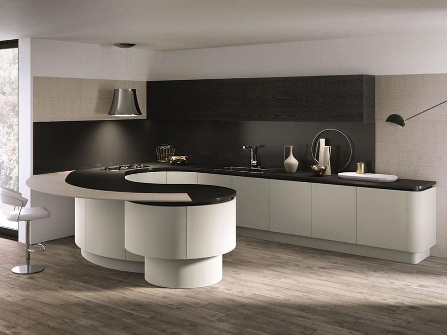 Modello di cucina a U moderna n.31