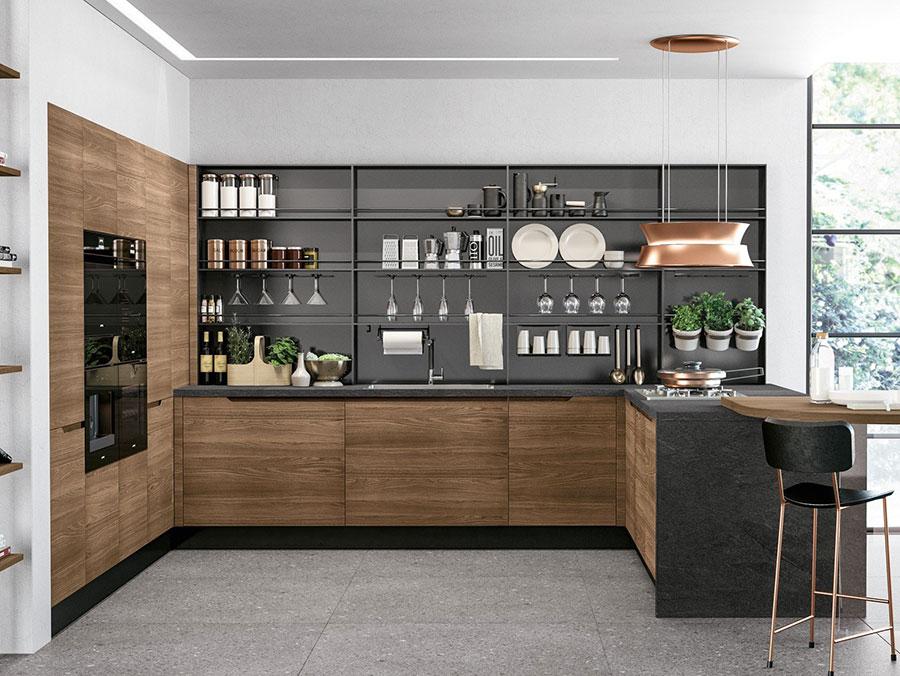 Modello di cucina a U moderna n.32