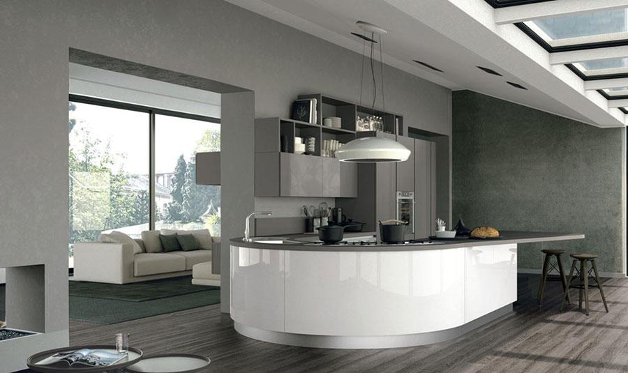 Modello di cucina a U moderna n.33