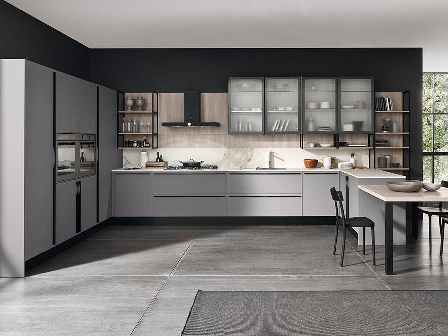 Modello di cucina a U moderna n.35