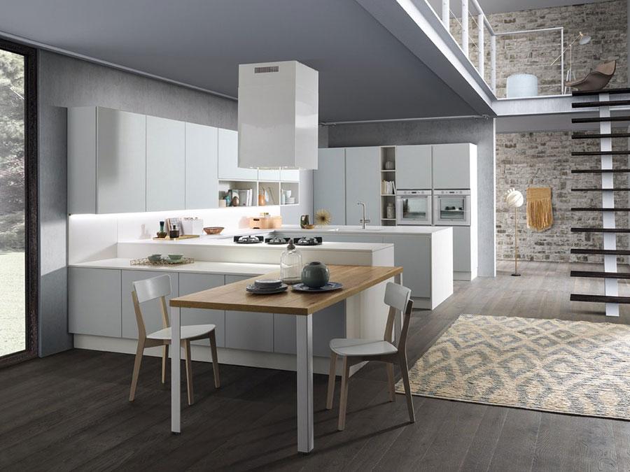 Modello di cucina a U moderna n.36