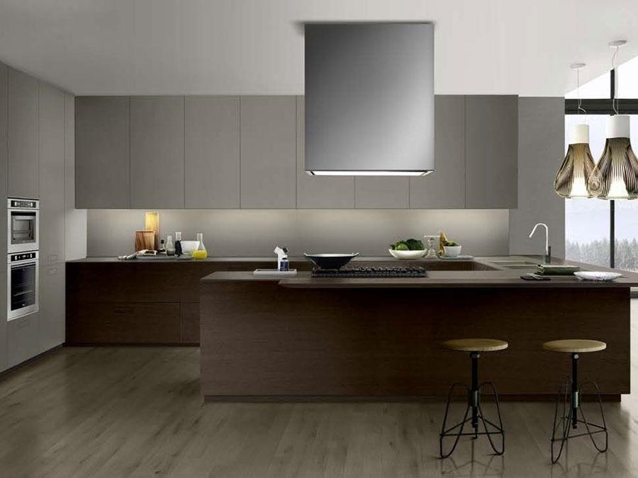 Modello di cucina a U moderna n.37
