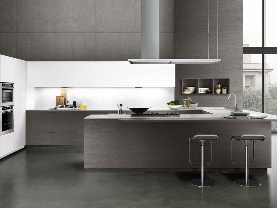 Modello di cucina a U moderna n.38