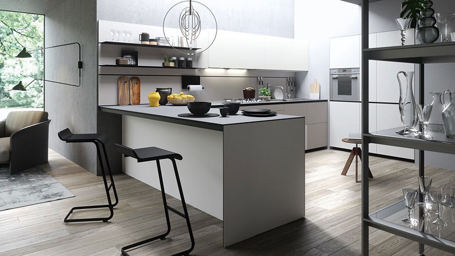 Modello di cucina a U moderna n.39