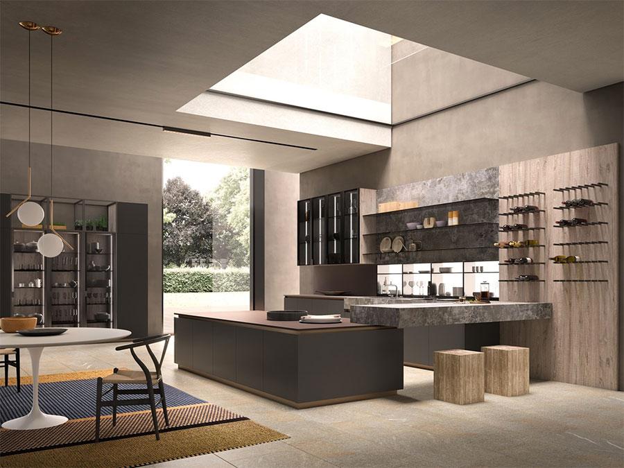 Modello di cucina a U moderna n.40