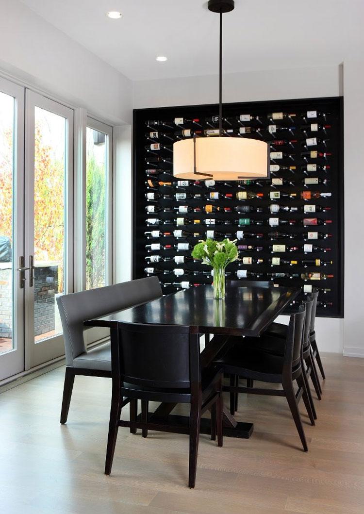 Modello di portabottiglie di vino da parete n.06