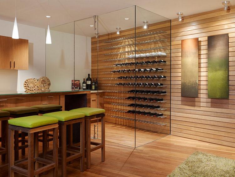 Modello di portabottiglie di vino da parete n.09