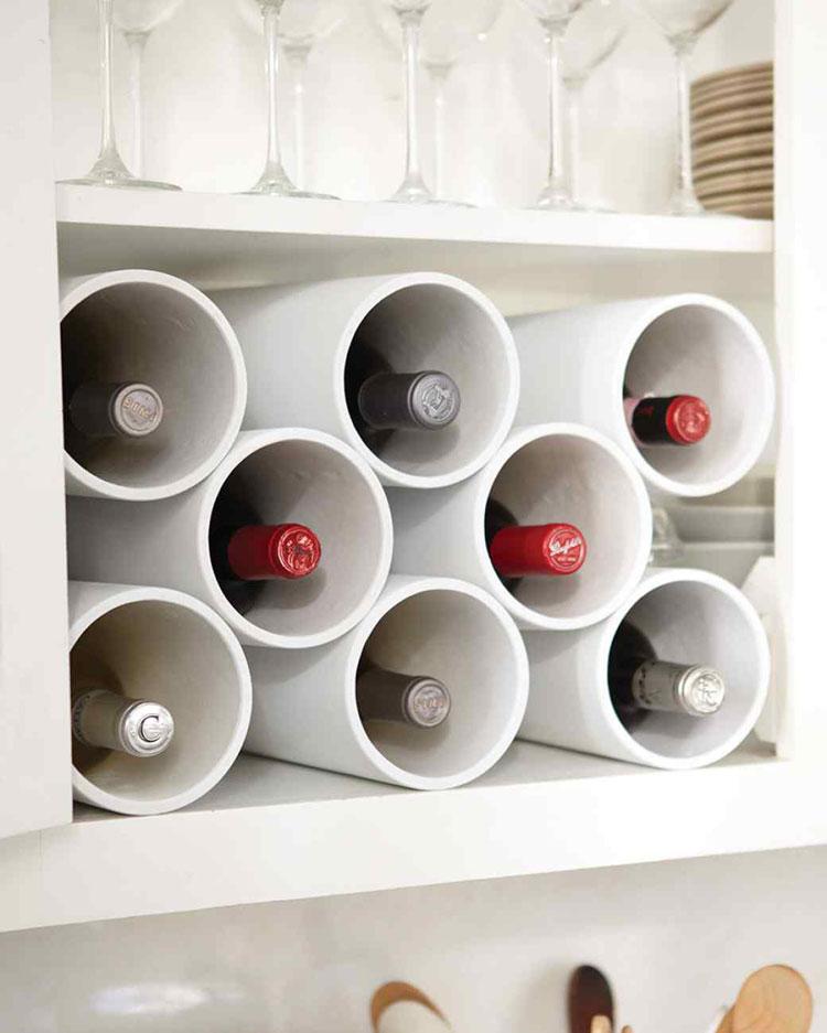 Modello di portabottiglie di vino da parete n.10