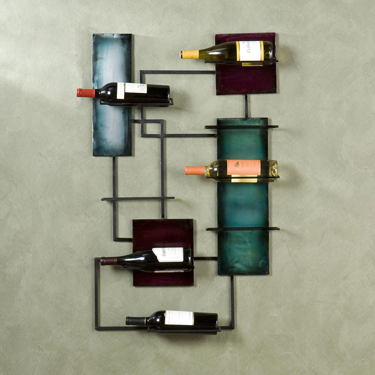 Modello di portabottiglie di vino da parete n.12