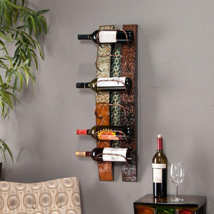 Modello di portabottiglie di vino da parete n.13