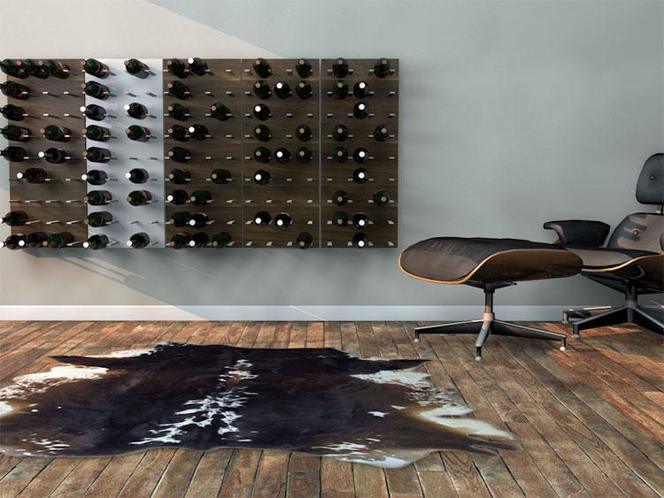Modello di portabottiglie di vino da parete n.14