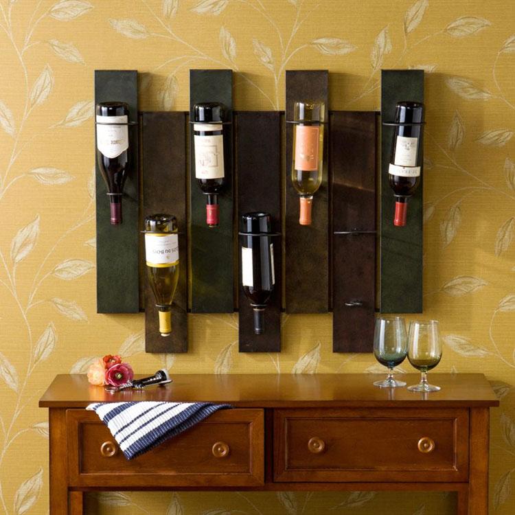 Modello di portabottiglie di vino da parete n.15