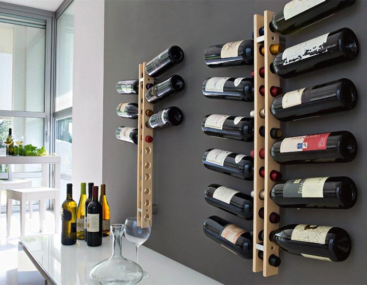 Modello di portabottiglie di vino da parete n.16