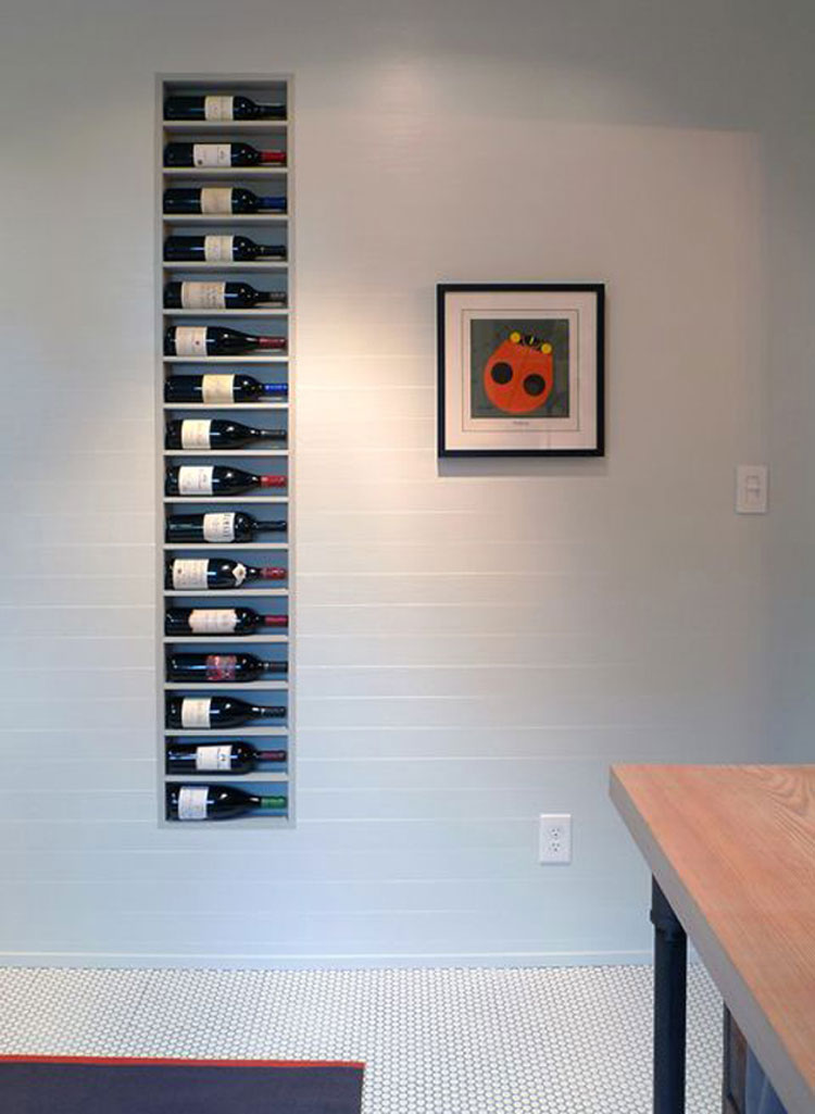 Modello di portabottiglie di vino da parete n.17