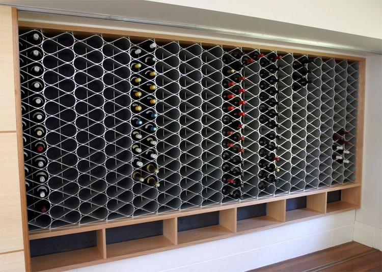 Modello di portabottiglie di vino da parete n.21