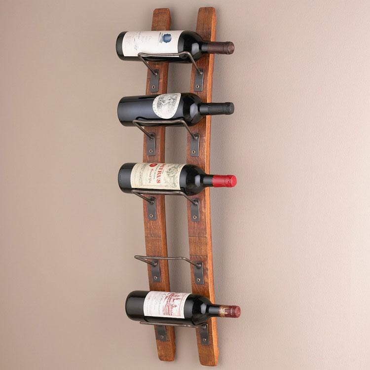 Modello di portabottiglie di vino da parete n.22