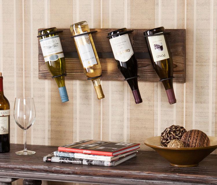 Modello di portabottiglie di vino da parete n.24