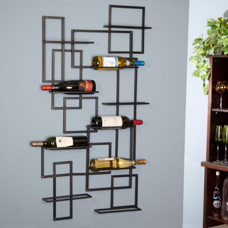 Modello di portabottiglie di vino da parete n.25