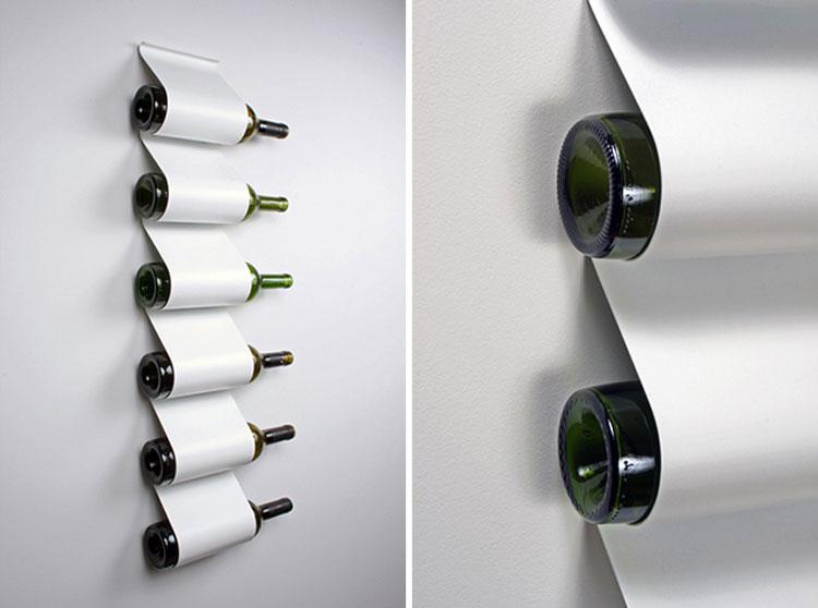 Modello di portabottiglie di vino da parete n.30
