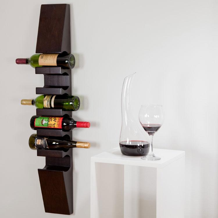 50 portabottiglie di vino da parete per tutti i gusti - Portabottiglie da parete ikea ...
