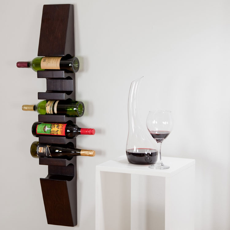 Modello di portabottiglie di vino da parete n.31
