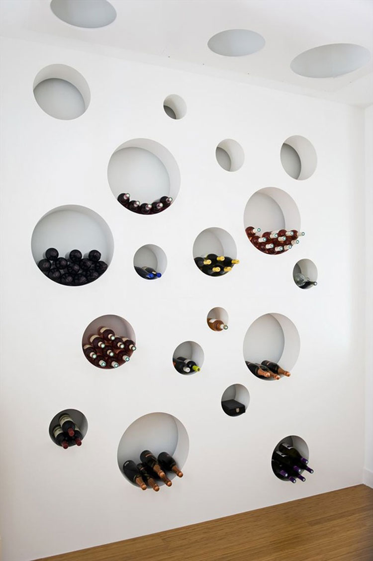 Modello di portabottiglie di vino da parete n.34