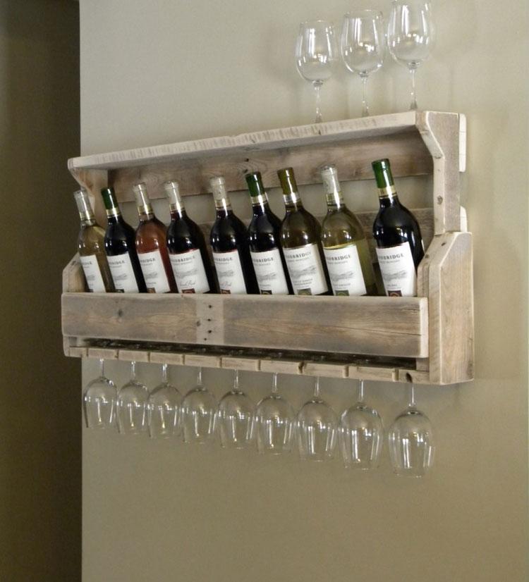 Modello di portabottiglie di vino da parete n.35